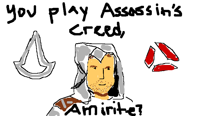 You play Assassin's Creed