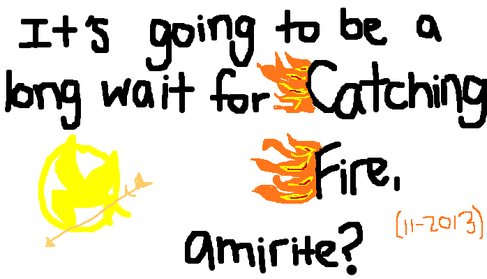 It's going to be a long wait for Catching Fire (11-2013) <strong>amirite?</strong>