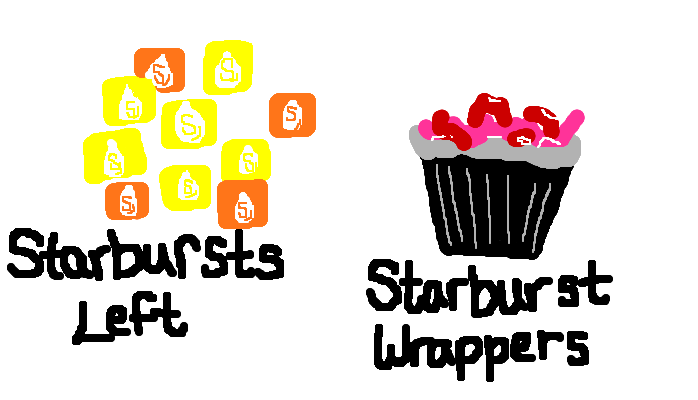 You like the red and pink starbursts more than you like the yellow and orange ones, <strong>amirite?</strong>