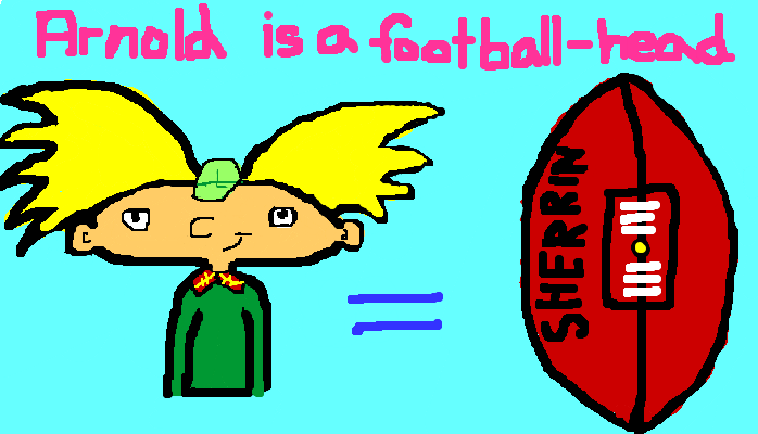 Arnold is a football-head, <strong>amirite?</strong>
