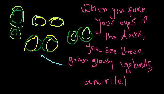 Glowy eyeballs, <strong>amirite?</strong>