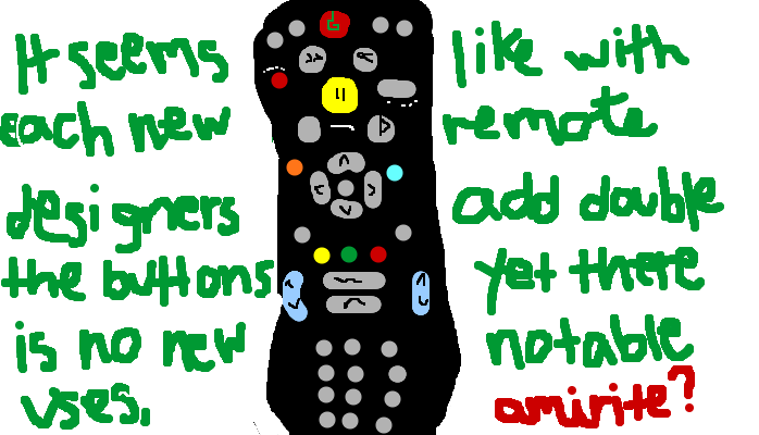 It seems like with each new remote designers add double the buttons yet there are no new notable uses, <strong>amirite?</strong>