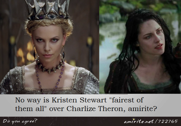 No way is Kristen Stewart &#34;fairest of them all&#34; over Charlize Theron, <strong>amirite?</strong>