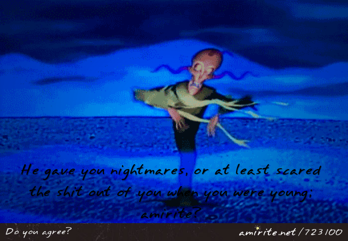 &#34;Return The Slab&#34; episode of Courage the Cowardly Dog gave you nightmares or at least scared the shit out of you, <strong>amirite?</strong>