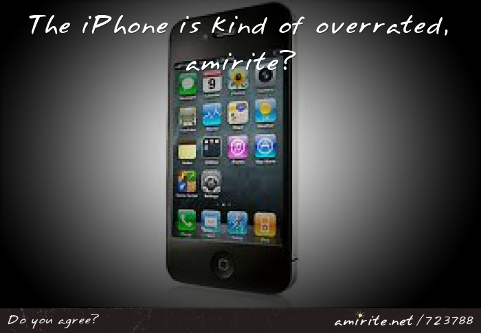 The iPhone is overrated, <strong>amirite?</strong>