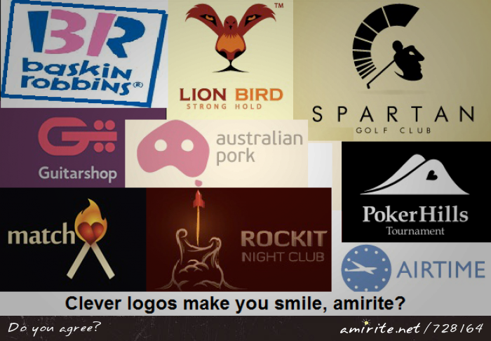 Clever logos make you smile, <strong>amirite?</strong>
