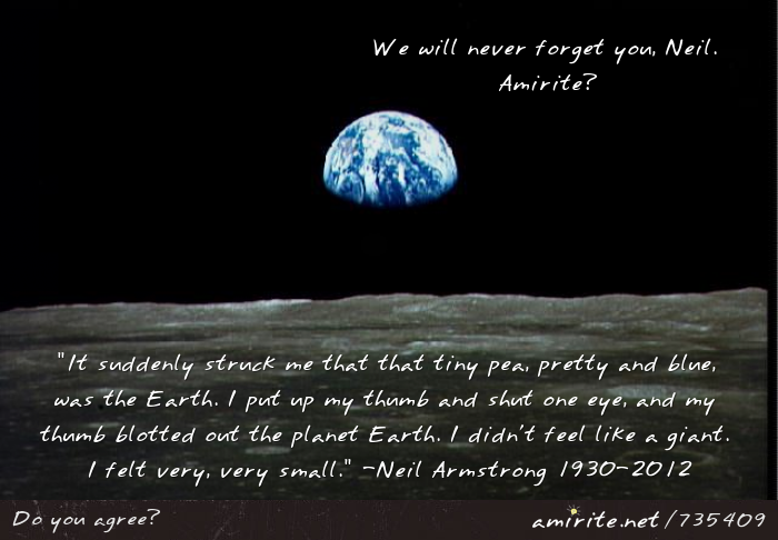 Neil Armstrong died today at 82. We will never forget him, <strong>amirite?</strong>