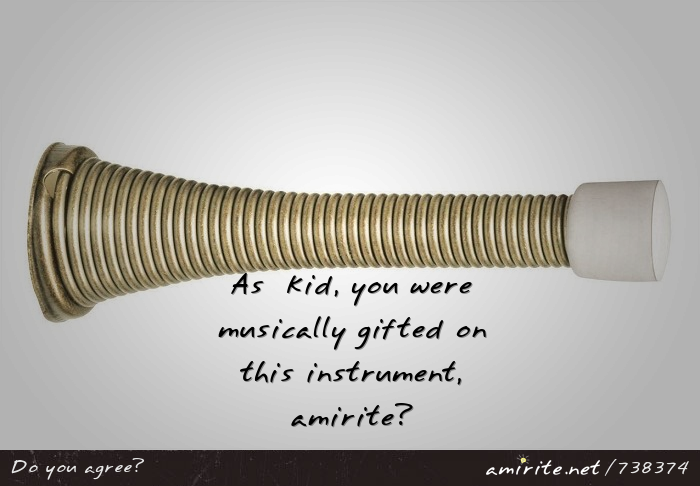 As a kid, you were musically gifted on this instrument, <strong>amirite?</strong>