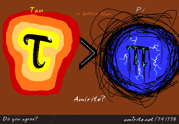 Tau is better than pi. <strong>amirite?</strong>