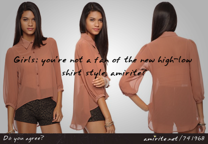 High Low Shirts For Girls New High-low Shirt Style
