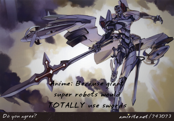 giant robots with guns