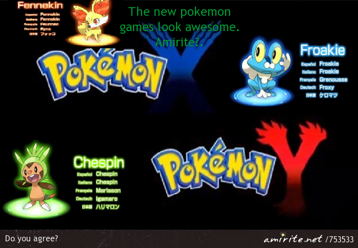 The new pokemon games look awesome. <strong>amirite?</strong>