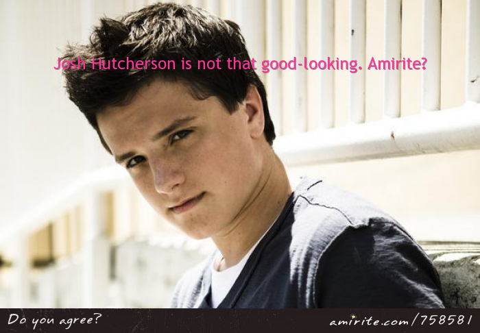 Josh Hutcherson is not that good-looking. <strong>Amirite?</strong>