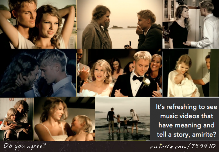 It's refreshing to see music videos that have meaning and tell a story, <strong>amirite?</strong>