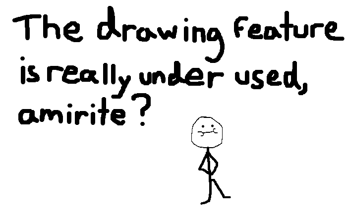 The drawing feature is really under used, <strong>amirite?</strong>