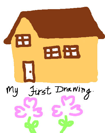 Do you remember the first thing you learned to draw?