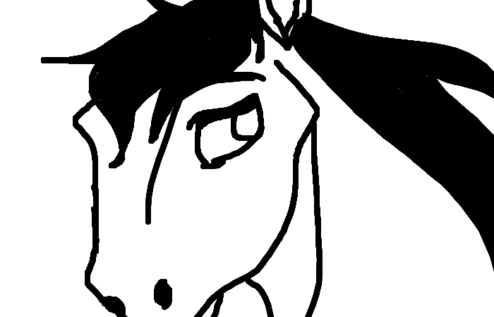 What do you guys think? This is my first drawing (and post) on this website! I didn't use colour because some areas on the horse were a bit small, and my fingers are quite large.  I know the horse is missing the right hand-side eye and brow, but other than that, I am rather satisfied! I would be grateful if you could leave a comment, because they always make my day bright and sunny!