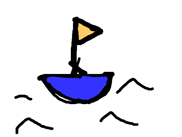 Did you ever draw a boat like this as a kid?