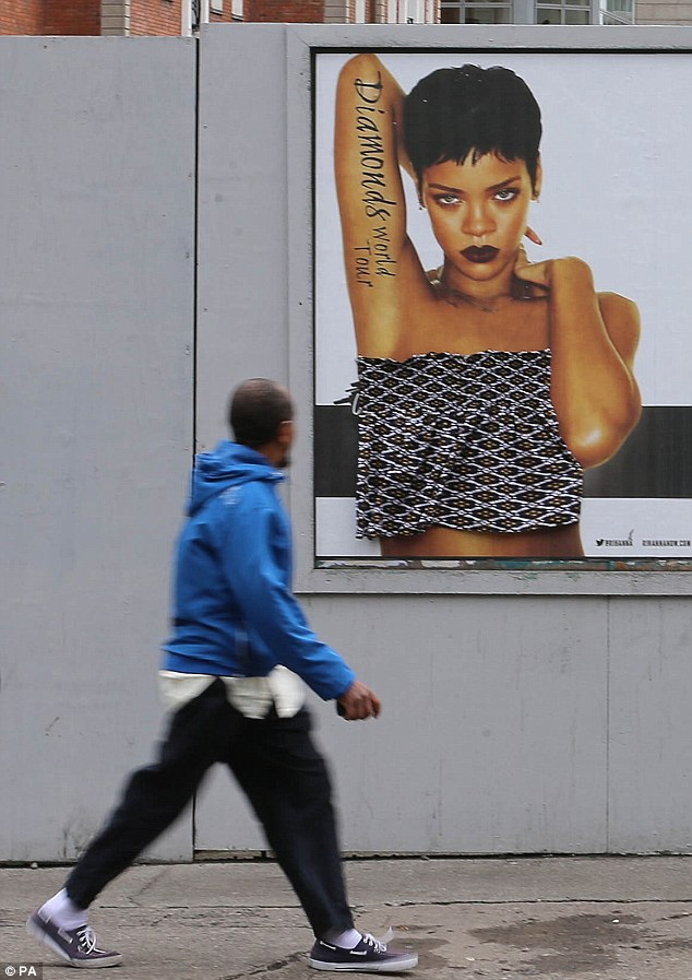 The fact that people have been putting clothes on near-naked Rihanna posters in Dublin is both amusing, and raises an interesting discussion about using **** to sell music.