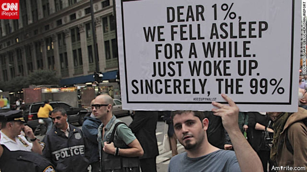 Do you agree with the 'Occupy Wall Street' movement? Why or why not?