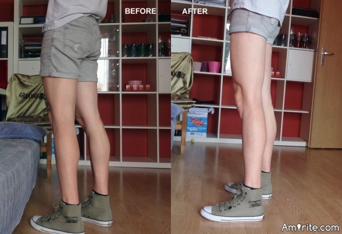 No short shorts for guys in stores. So the tailor comes to the rescue :). Before or after?