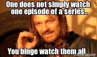 Don't you hate it when you're binge watching a TV show and you get to the end of the first season then find out it's the ONLY season?