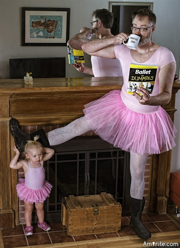 Dads. They do the darndest things. What bizarre behaviour has your Dad done (that you'd like to share)?