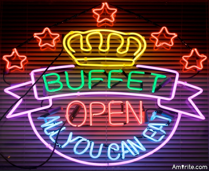 Have you ever been asked to leave an all you can eat buffet because you ate too much food.