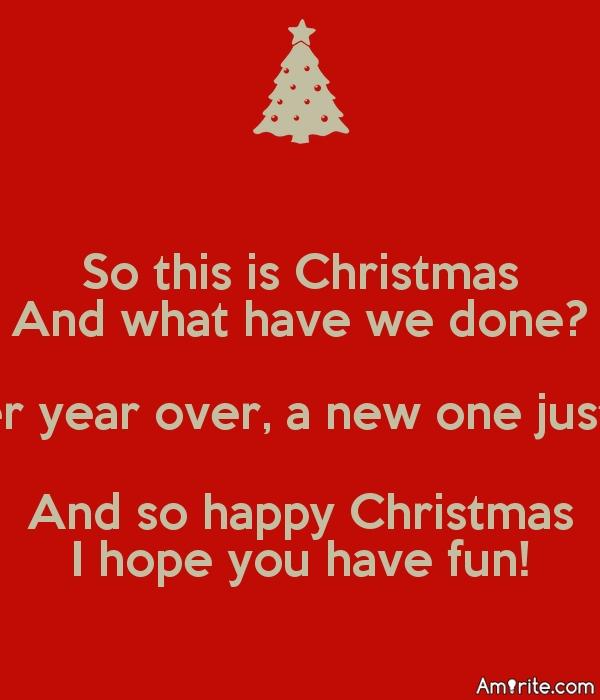 <b>I'd like World Peace for Christmas.</b>