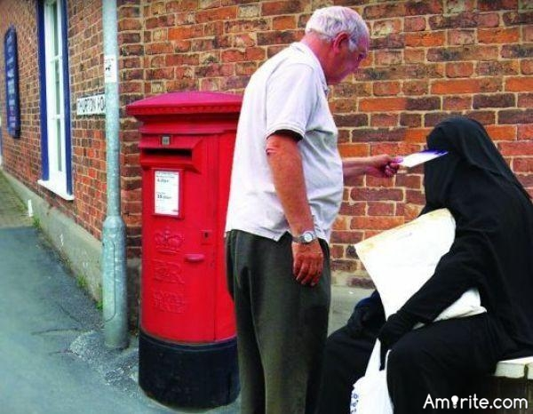 Have you ever mistaken a Muslim woman for a mailbox?