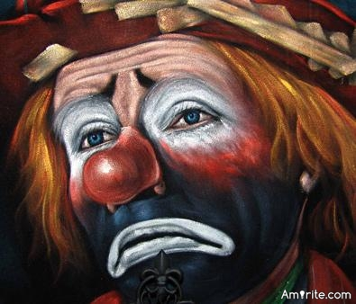 There's a reason why clowns have to paint on their smiles...