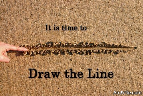 Every line you draw in the sand is either a heartfelt victory or a devastating loss. <strong>Amirite?</strong>
