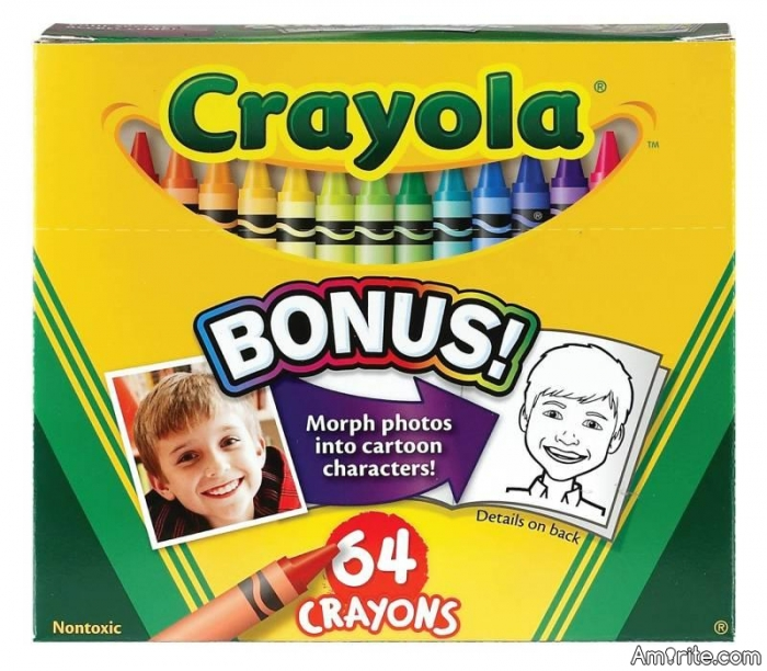 You cannot remember the last time you used a crayon.