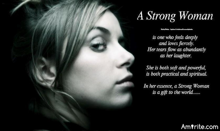 What makes a woman strong depends on what you consider strength and men have nothing to do with this. <strong>Amirite?</strong>