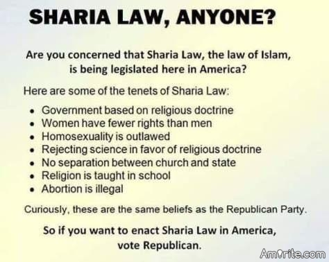 Sharia Law, Anyone?