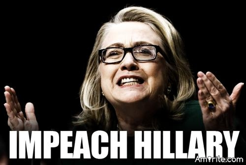 Hillary Just Might Be The First White Female Presidential Candidate Impeached By Congress!