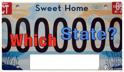 Let's Play the License Plate Game! How many do you know?
