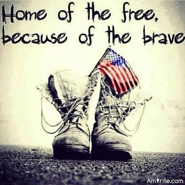 Home of the free, because of the brave. God bless America!