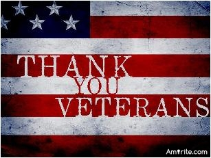 Thanks to all our Veterans on Veterans Day for serving this great country of ours.