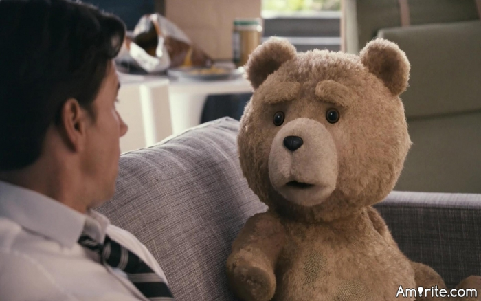 What do you expect to see when you look into the eyes of a teddy bear?