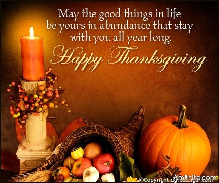 Happy Thanksgiving everyone!  Enjoy the day and stay safe.