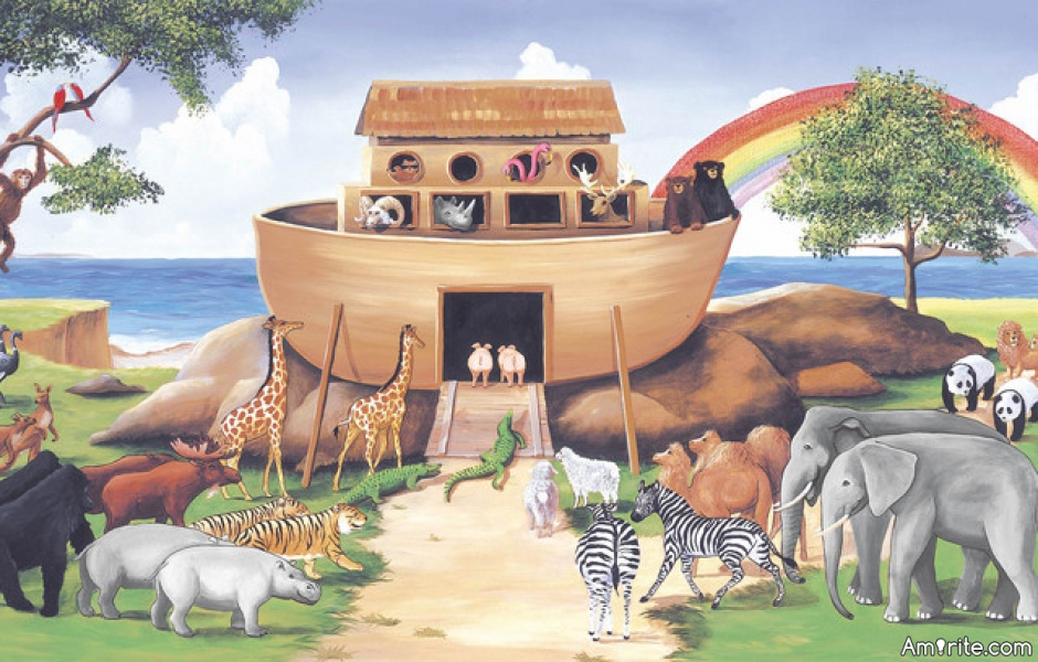 Noah's Ark has been used to promote racism, <strong>amirite?</strong>