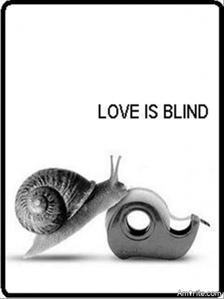 "I've always heard: ""Love is blind""...What do you think?"