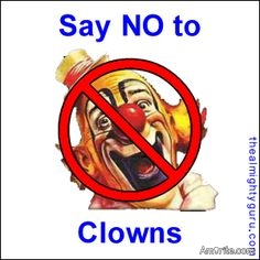 Scary Clown pictures should be banned on Amirite.com, <strong>amirite?</strong>