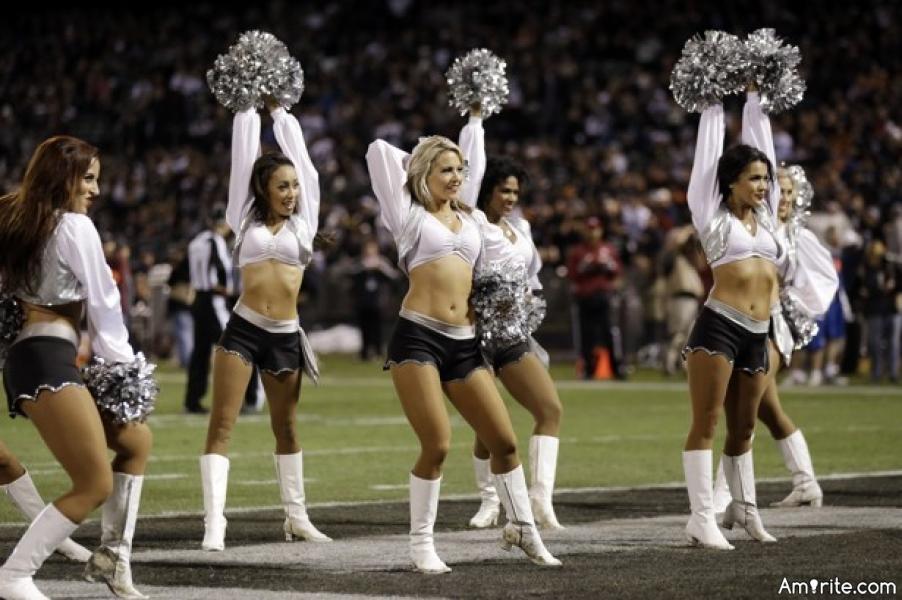 Any cheerleaders here?