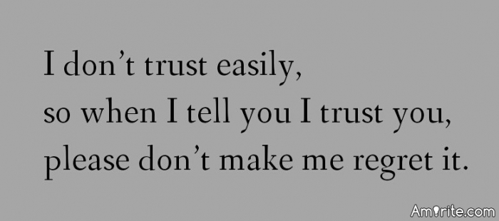 Why can't you trust people anymore?