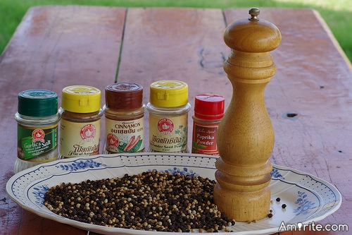 <b>Pepper from a pepper mill tastes SO much better.</b> <em>Which other spices are you dependant on?</em>