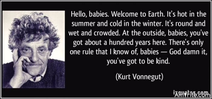 Vonnegut speaks to the left.