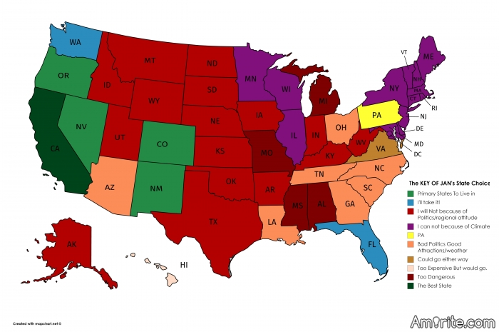 Where in the US would you NEVER want to live?