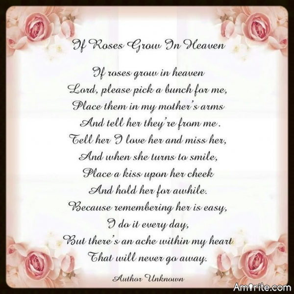 To my MOM! On this day, 23 yrs. ago you became another one of God's Angels. I love and miss you dearly!